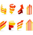 Color arrows set vector image vector image