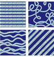 Set of Seamless nautical patterns on blue backgrou vector image vector image