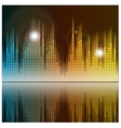 Sound waves and music background Audio equalizer vector image
