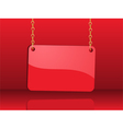 glossy red sign vector image vector image