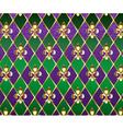 Jewelry Background Mardi Gras vector image