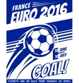 Football poster with ball EURO 2016 France vector image
