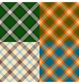 Color plaid patterns set vector image