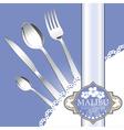 Restaurant menu design on blue background vector image