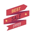 Best Sale Offer Discount Banner Isolated vector image