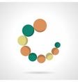 Circular loader flat color icon vector image