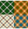 Color plaid patterns set vector image