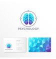 logo psychologist crystal brain emblem vector image