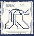 metro subway map - subway poster design vector image