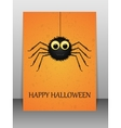 Happy Halloween greeting card with spider vector image vector image