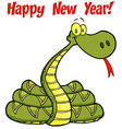 Snake Cartoon Character With Text vector image vector image