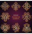 Golden decorative ethnic elements vector image vector image
