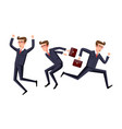 business people jumping celebrating success vector image