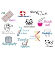 Medicine and science symbols vector image