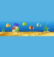 Underwater scene with many fish vector image