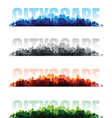 cityscape banners vector image vector image