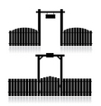 fence with gate vector image