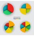 Segmented and multicolored pie charts vector image
