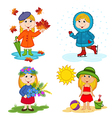 girl and the four seasons vector image