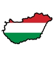 Map in colors of Hungary vector image vector image