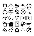 Weather Icons 5 vector image