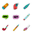 charger icons set cartoon style vector image