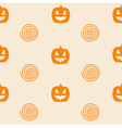 Halloween Seamless Pattern with Pumpkin vector image