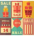 Retro Sale Posters vector image