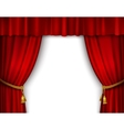 Stage curtain isolated vector image