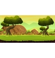 Forest and Stones game background vector image