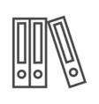 File Folder Line Icon vector image