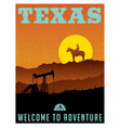 texas travel poster or sticker vector image