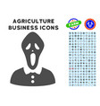 horror icon with agriculture set vector image