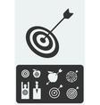 Set of targets vector image