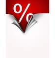 Coupon banner with torn edge vector image
