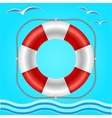 Rescue circle for help in water vector image vector image