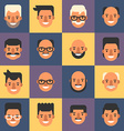 Set of Flat Design People Avatar Icons Mens 16 vector image