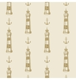 Lighthouse anchor vintage pattern sea naval vector image