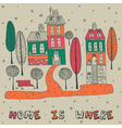 Home Sweet Home Background vector image vector image