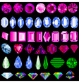 a set of precious stones of different cut vector image