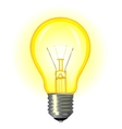 Bright glowing incandescent light vector image