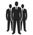 business team black icon leadership concept vector image