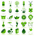 Green Eco Icons 2 vector image