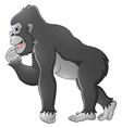Happy gorilla cartoon vector image