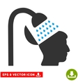 Open Mind Shower Eps Icon vector image