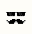 Pixel Art Suns and Moustache vector image