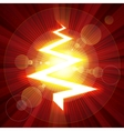 Red color lightning christmas tree vector image