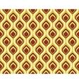 Retro seamless pattern peacock tail vector image