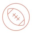 Rugby football ball line icon vector image