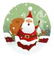 Santa with gifts vector image